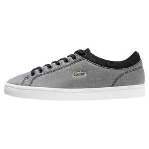 274879570361d8 Lacoste Shoes - Lacoste Canvas Straightset Lace-Up Sneakers Black